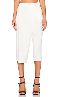One Fell Swoop Draped Culotte Pant in Natural