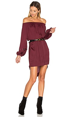 San Cerena Shoulder Dress in Bordeaux