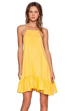 One Teaspoon Luxe Cupro Dress in Citrine