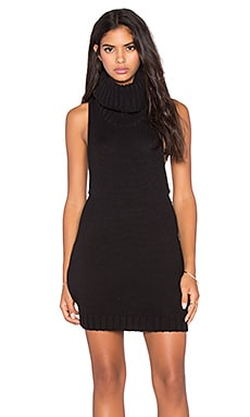 Parisienne Nights Sleeveless Dress en Noir