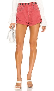 Studded Bandits High Waist Denim Short One Teaspoon $127