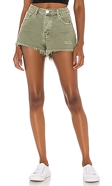Bonita High Waist Denim Short One Teaspoon $87