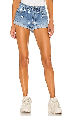 Bandits Mid Waist Denim Short One Teaspoon $121