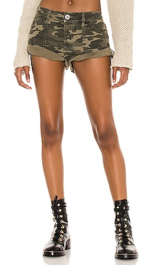 Bandit Low Waist Denim Short One Teaspoon $121