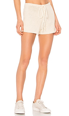 Castaway Knitted Beach Shorts in Neutral. - size S (also in L,M,XS) One Teaspoon