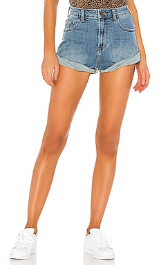 High Waist Denim Short One Teaspoon $71