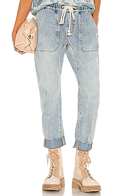Shabbies Drawstring Boyfriend Jean One Teaspoon $132