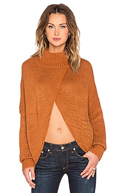 One Teaspoon Le Creme Open Front Sweater in Nutmeg