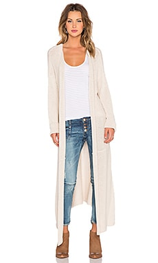 One Teaspoon Desert Eagle Long Cardigan in Cream