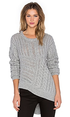 One Teaspoon Sovereign Wool Blend Knit in Grey Marle