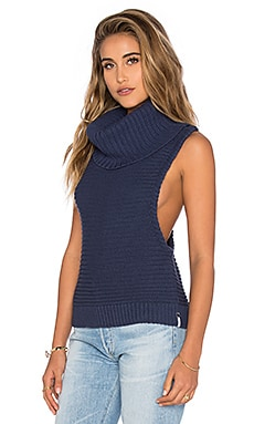 Parisienne Night Knit Tank in St. Bleu