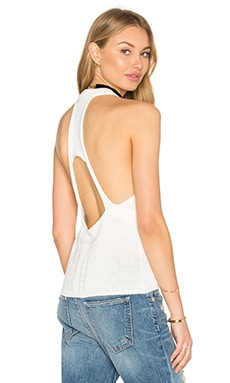 One Teaspoon Sorrento Sleeveless Sweater in Coconut