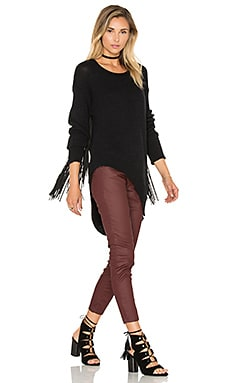 Silver Sovereign Fringe Sweater in Black
