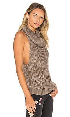 Kentucky Parisienne Sleeveless Sweater in Khaki Luxe