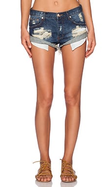 One Teaspoon Tiger Bandits Jean Shorts in Tiger