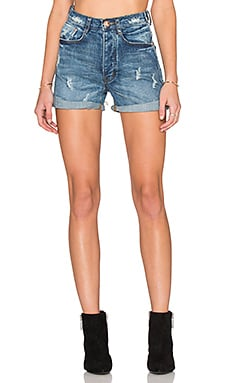One Teaspoon Harlets Short in Pure Blue