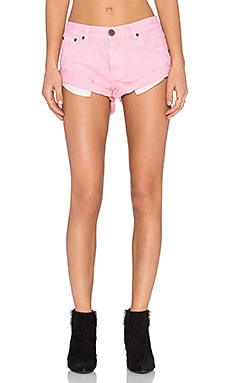 One Teaspoon Bandits Short in Hot Pink