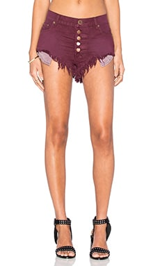 One Teaspoon Rollers Short in Bordeaux