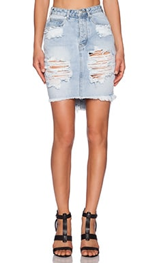 One Teaspoon Wilde 2020 Denim Pencil Skirt in Wilde