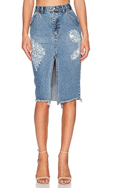 One Teaspoon Cadillac Skirt in Pacifica