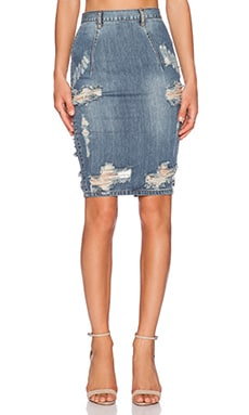 One Teaspoon Dusty Freelove Denim Skirt in Dusty