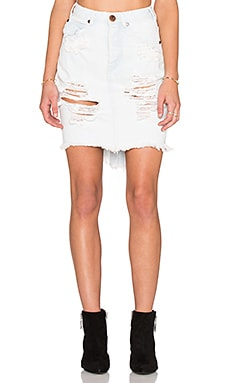 One Teaspoon 2020 Skirt in Le Creme
