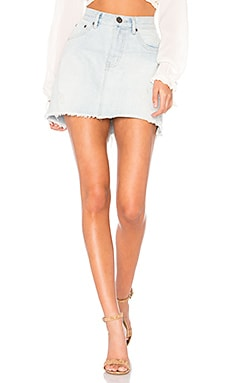 2020 Mini High Waist Denim Skirt One Teaspoon $73