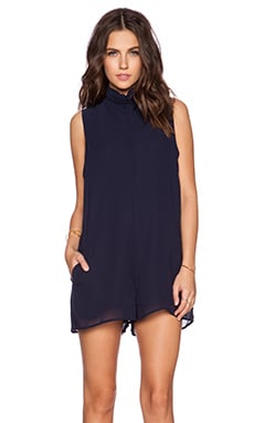 One Teaspoon Dynasty Suit Romper in Navy