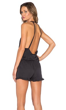 One Teaspoon Le Wolfe Romper in Charcoal