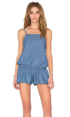 Delilah Romper in Indigo Chambray