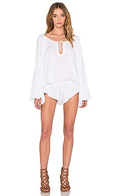 One Teaspoon Aloha Romper in White