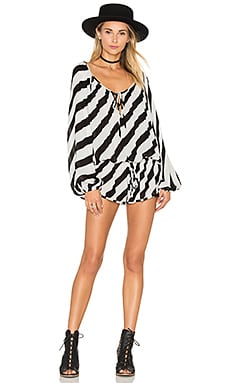 Aloha Romper in Black & White