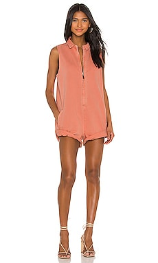 X REVOLVE Zip Through Mini Braxton Jumpsuit One Teaspoon $198