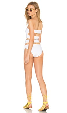 onia Allie Strapless One Piece in Bright White