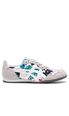 Onitsuka Tiger Serrano in Pink Stripe and White