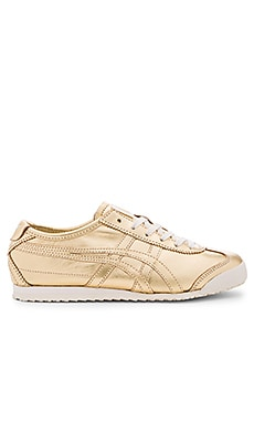 Onitsuka Tiger Mexico 66 Sneaker in Gold & Gold