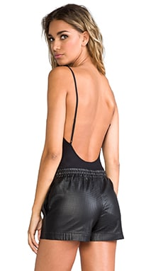 Second Skins Lowback Bodysuit en Negro