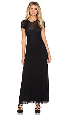 Only Hearts Tulle Maxi Tee Dress in Black