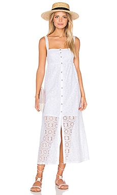 Lisbon Lace Square Neck Sundress in White