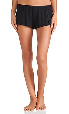 Only Hearts Feather Weight Rib Sleep Shorts in Black