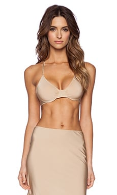 Only Hearts Second Skins Racerback Bra in Nude