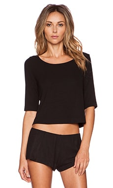 Only Hearts Shortsleeve Cropped T in Black