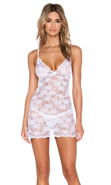 Only Hearts Summer Song Chemise & G Sring Set in White