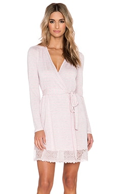 Only Hearts Venice Short Robe with Lace Hem in Stripe