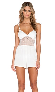 Only Hearts Venice Playsuit in Antique White