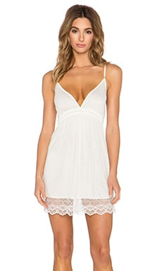 Only Hearts Venice Lace Hem Chemise in White