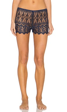 Only Hearts Victorian Lace Hipster Shorts in Midnight