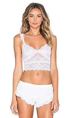 Only Hearts So Fine with Lace Crop Cami in White