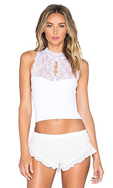 Only Hearts So Fine Lace Halter in White