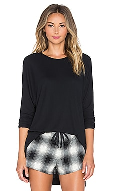 Only Hearts Feather Weight Rib Tunic Tee in Black